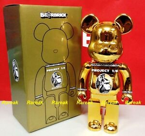 Medicom Bearbrick AE Project 1/6 Centurion Golden 400% Chrome Gold Be@rbrick