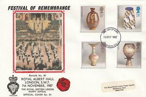 (88150) GB Ramsilk British Legion FDC 31 Studio Pottery London SW 1987