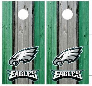 Philadelphia Eagles Football Cornhole Board Wraps Skins Vinyl Decals NFL