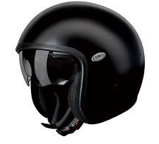 Vintage Motocicleta Casco Jethelm #talla XS negro mate Premier U9BM+Visera solar