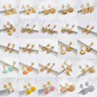 Fashion Women Shell Pendant Statement Dangle Drop Stud Earrings Jewelry