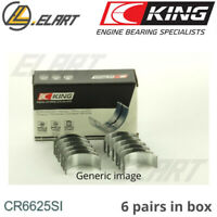 King Big End Con Rod Bearings CR6625SI STD For GM 4.3