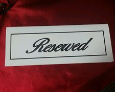 Reserved Table Signs (New Sealed Package of 10) Heavy Duty Construction