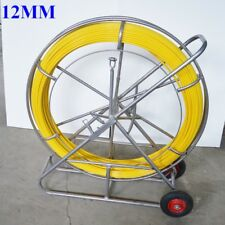 Fish Tape Fiberglass Wire Cable Running Rod Duct Rodder Fishtape Puller 12mm