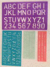 4 Stencil Set Letters Capital Alphabet Number Lettering Upper Lower