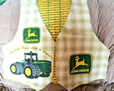 100% Cotton Flannel John Deere Vest and Yellow Flannel Lining Fabric Kit Adult