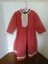 """Handmade Vintage 19"""" Length Dress for Large Antique Bisque Doll"""
