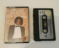 MICHAEL JACKSON OFF THE WALL CASSETTE TAPE 1979 PAPER LABEL EPIC CBS UK
