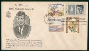 Mayfairstamps US FDC 1964 South Sudan Mixed Franking JFK First Day Cover wwo9705