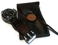 Watch Box Single Case Leather Black Display 1 Grid Slot Bracelet Jewelry Travel