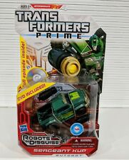 TRANSFORMERS PRIME ROBOTS IN DISGUISE SARGENT KUP DVD INCLUDED *NEW*MINT*