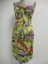 "Kew 159 dress sweetheart neckline detachable straps sailing print B36"" UK12/14"