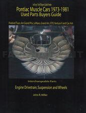 Trans Am and Firebird Parts Interchange Book 1974 1975 1976 1977 1978 1979 1980