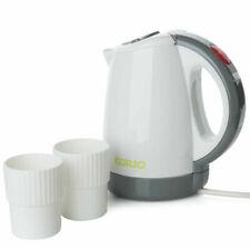 Korjo 450ml Electric Travel Jug 2 Water Cups Dual Voltage Portable Kettle 1000w