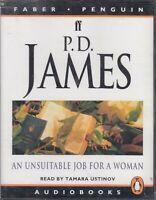 P D James An Unsuitable Job For A Woman 4 Cassette Audio Book Unabridged Crime