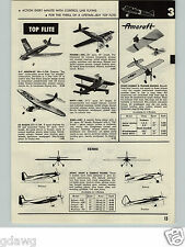 1957 PAPER AD 6 PG Gas Hobby Airplane Free Flight Planes Cleveland Berkeley's