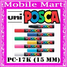 UNI◉POSCA MARKER PC17K x 8 FULL SET◉CHISEL TIP 15 mm◉ART◉CRAFT◉GRAFFITI◉PROJECT◉