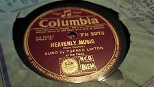 TURNER LAYTON HEAVENLY MUSIC & BYE FOR NOW COLUMBIA FB2973