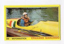 figurina PANINI CAMPIONI DELLO SPORT 1970-71 N. 204 MOTONAUTICA MARCHISIO