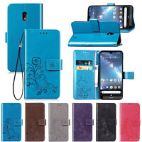 Wallet Case For Nokia 2.2 3.2 4.2 Luxury Magnetic Leather Flip Stand Phone Cover