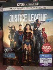 Justice League (DVD, 2018, 4K Ultra HD Blu-ray/Blu-ray)