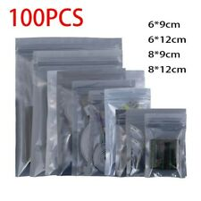 More details for transparent insulated bags 100x flat pouch grey self-sealing accessory