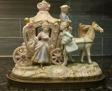 Vintage Porcelain Coach with Colonial Figurines - Japan