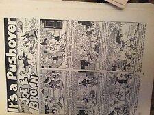 F8-1  Ephemera 1940s comic strip joe e brown its a pushover