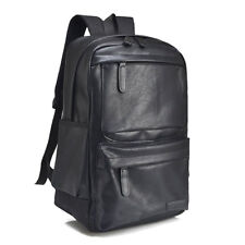 PU Faux Leather 14 inch Laptop Bag Backpack Causal Daypack Rucksack College Scho