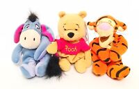 Disney Winnie the Pooh,Tigger,Eeyore Bean Bag Plush Lot With Tags FREE SHIPPING