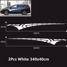 2x Universal Car Body Side Door Long Stripe Stickers Graphic Vinyl Decals Decor