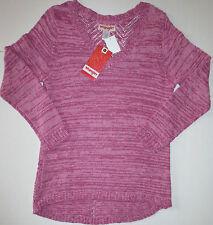 NWT Women's Wrangler Pullover Knit V-Neck Violet Long Sleeve Sweater Med NEW