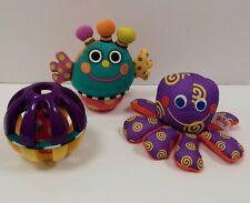 First Baby Infant Developmental Toy Lot Sassy Plush Rattle Teething Toys