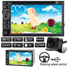 Double Din 6.2'' Car Stereo Radio CD DVD Player + Rearview Backup Cam For Ford