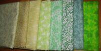 Quilter Palette 8 fat quarter bundle fabric cotton Green  bright Spring colors