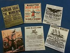 1/6 scale Civil War era Set of 6 Posters GI Joe Barbie Miniatures BOTW (2)