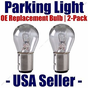Parking Light Bulb 2-pack OE Replacement Fits Listed Toyota Vehicles 1034