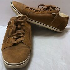 UGG Roxford Bomber Sneaker Twinface Chestnut Brown Shoes Sz 12 US Oxford Lace Up