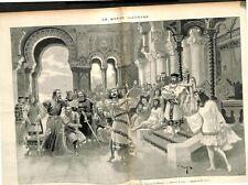 Tannhäuser opéra de Richard Wagner Académie national Musique 1895 ILLUSTRATION