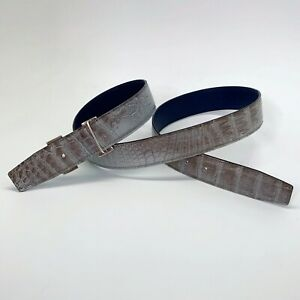 Handmade 32mm Grey Himalayan Reversible Crocodile belt Size 95 Free Shipping
