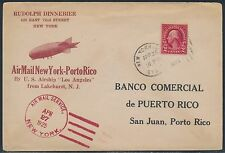 U.S.S. LOS ANGELES  FLIGHT COVER APRIL 27,1925 NEW YORK TO SAN JUAN, P.R. BT8446