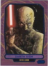 STAR WARS GALACTIC FILES SERIES 1 BLUE PARALLEL #196 DARTH SION 321/350