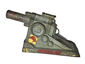 WW2 Field Gun Cast Metal Toy Vintage As Found Original Condition Made In USA