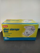 NEW Staples 40 Disc CD's and DVD's Storage Box Container Rolodex Organizer