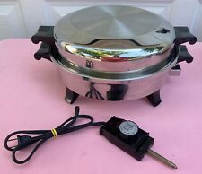 """Society Regal Ware By West Bend Waterless Liquid Core 12"""" Electric Skillet EC #1"""