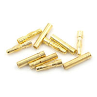 5 Set  4.0mm 4mm Gold Bullet Banana Connector for RC battery ESC Motor YE