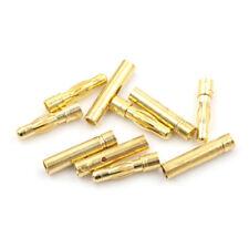 5 Set  4.0mm 4mm Gold Bullet Banana Connector for RC battery ESC Motor TB