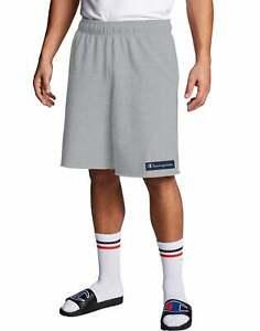 Champion Men's Fleece Shorts Powerblend Knockout Logo 10 in Inseam Midweight