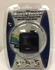 MEDIA GEAR XTRA DRIVE USB Thumb Drive Adapter Flash Card Reader Portable NEW