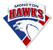 "1993-94 MONCTON HAWKS AHL HOCKEY MINORS 10.25"" JERSEY PATCH FINAL SEASON"